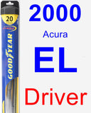Driver Wiper Blade for 2000 Acura EL - Hybrid