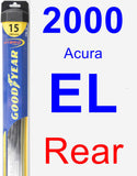 Rear Wiper Blade for 2000 Acura EL - Hybrid