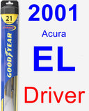 Driver Wiper Blade for 2001 Acura EL - Hybrid