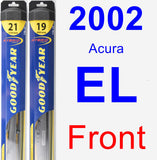 Front Wiper Blade Pack for 2002 Acura EL - Hybrid