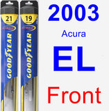 Front Wiper Blade Pack for 2003 Acura EL - Hybrid