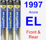 Front & Rear Wiper Blade Pack for 1997 Acura EL - Hybrid