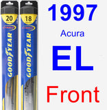 Front Wiper Blade Pack for 1997 Acura EL - Hybrid