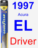 Driver Wiper Blade for 1997 Acura EL - Hybrid