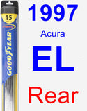 Rear Wiper Blade for 1997 Acura EL - Hybrid