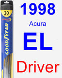 Driver Wiper Blade for 1998 Acura EL - Hybrid