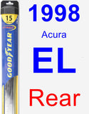 Rear Wiper Blade for 1998 Acura EL - Hybrid