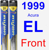 Front Wiper Blade Pack for 1999 Acura EL - Hybrid