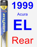 Rear Wiper Blade for 1999 Acura EL - Hybrid