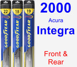 Front & Rear Wiper Blade Pack for 2000 Acura Integra - Hybrid