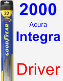 Driver Wiper Blade for 2000 Acura Integra - Hybrid