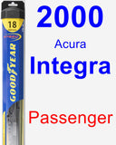 Passenger Wiper Blade for 2000 Acura Integra - Hybrid