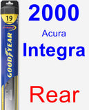 Rear Wiper Blade for 2000 Acura Integra - Hybrid