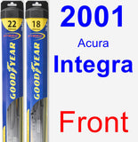 Front Wiper Blade Pack for 2001 Acura Integra - Hybrid