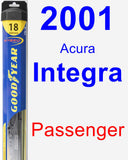 Passenger Wiper Blade for 2001 Acura Integra - Hybrid