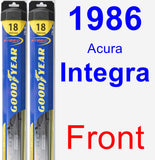 Front Wiper Blade Pack for 1986 Acura Integra - Hybrid