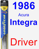 Driver Wiper Blade for 1986 Acura Integra - Hybrid