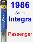 Passenger Wiper Blade for 1986 Acura Integra - Hybrid