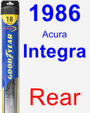 Rear Wiper Blade for 1986 Acura Integra - Hybrid