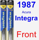Front Wiper Blade Pack for 1987 Acura Integra - Hybrid