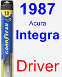 Driver Wiper Blade for 1987 Acura Integra - Hybrid