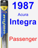 Passenger Wiper Blade for 1987 Acura Integra - Hybrid