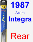 Rear Wiper Blade for 1987 Acura Integra - Hybrid