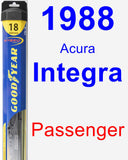 Passenger Wiper Blade for 1988 Acura Integra - Hybrid