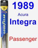 Passenger Wiper Blade for 1989 Acura Integra - Hybrid