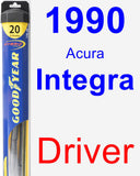Driver Wiper Blade for 1990 Acura Integra - Hybrid
