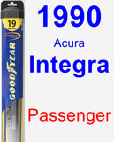 Passenger Wiper Blade for 1990 Acura Integra - Hybrid
