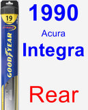 Rear Wiper Blade for 1990 Acura Integra - Hybrid