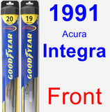 Front Wiper Blade Pack for 1991 Acura Integra - Hybrid