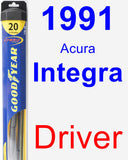 Driver Wiper Blade for 1991 Acura Integra - Hybrid