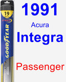 Passenger Wiper Blade for 1991 Acura Integra - Hybrid