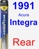 Rear Wiper Blade for 1991 Acura Integra - Hybrid