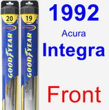 Front Wiper Blade Pack for 1992 Acura Integra - Hybrid