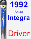 Driver Wiper Blade for 1992 Acura Integra - Hybrid