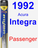 Passenger Wiper Blade for 1992 Acura Integra - Hybrid