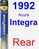 Rear Wiper Blade for 1992 Acura Integra - Hybrid