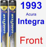 Front Wiper Blade Pack for 1993 Acura Integra - Hybrid