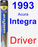 Driver Wiper Blade for 1993 Acura Integra - Hybrid