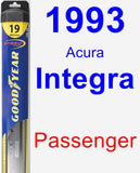 Passenger Wiper Blade for 1993 Acura Integra - Hybrid