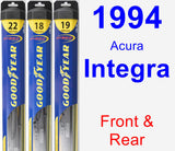 Front & Rear Wiper Blade Pack for 1994 Acura Integra - Hybrid