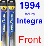 Front Wiper Blade Pack for 1994 Acura Integra - Hybrid