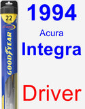 Driver Wiper Blade for 1994 Acura Integra - Hybrid