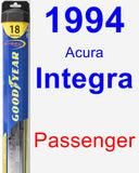 Passenger Wiper Blade for 1994 Acura Integra - Hybrid