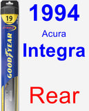 Rear Wiper Blade for 1994 Acura Integra - Hybrid