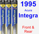 Front & Rear Wiper Blade Pack for 1995 Acura Integra - Hybrid