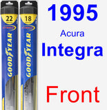 Front Wiper Blade Pack for 1995 Acura Integra - Hybrid